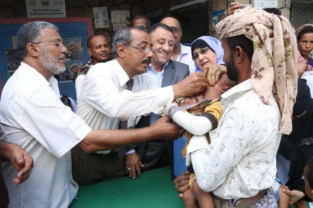 بحضور نائب المحافظ.. تدشين الحملة الوطنية ضد مرض شلل الأطفال بأبين